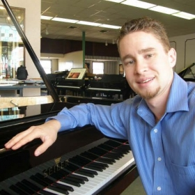 Promo photo for a piano recital in 2009