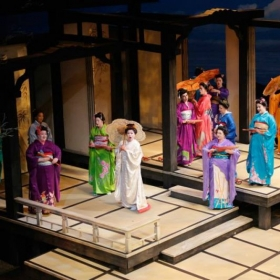 From Utah Opera's 2014 production of Madame Butterfly (I am the light purple one on the right)