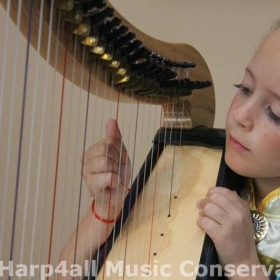Playing harp in character is so much fun!