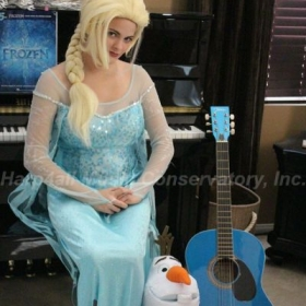 Frozen Fever, enjoying getting into character.