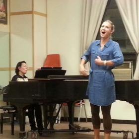 Rehearsing for a recital as part of the New York Lyric Opera Theatre Emerging Artist Program