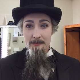 Dressed as Sarastro in MN Opera's production of The Magic Flute