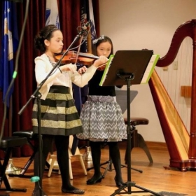 Violin Duo, Recital Air Force Village West