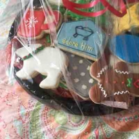 Christmas cookies from Tracy and Grace!