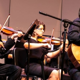 Performing a concert with Valencia College Orchestra
