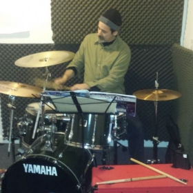 Johnny, drum set student