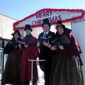 That's me on the left, caroling with Big Smile Entertainment in the Quincy Christmas parade!
