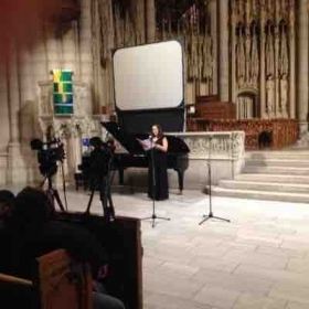 Performance at Riverside Church in Manhattan.