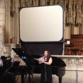 Performance at Riverside church in Manhattan