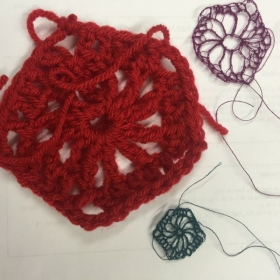 One example of how I make learning tricky stitches fun and easier. Bigger yarn!