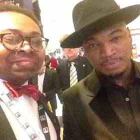With Ne-Yo at the GRAMMY Awards in Los Angeles
