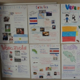 Learning about Spanish-speaking countries through a research project.