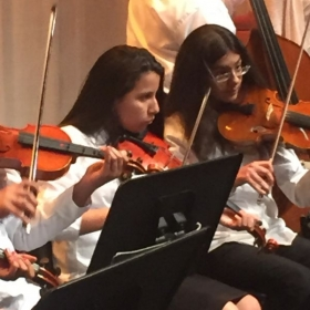 Another student during her performance with a local honors group!
