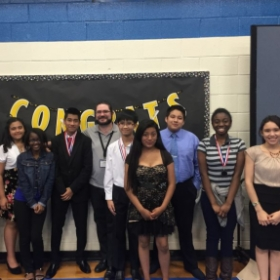 Some of my orchestra students after a successful performance!