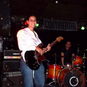 On stage at NYC's Continental with my former band, Venice Beach Music Club