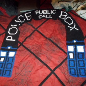 A Doctor Who Scarf I made my ex brother in law. This was my very first graph item I made.