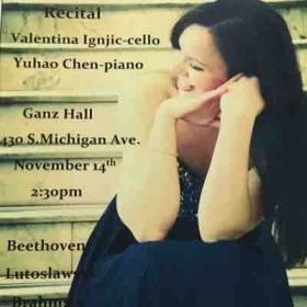 Solo Recital in Ganz Hall, Roosevelt University, Chicago, 2015