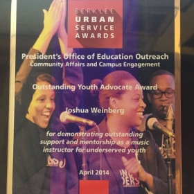 "My ""Outstanding Youth Advocate"" Award"