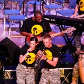 Performing with students at the Army School of Music