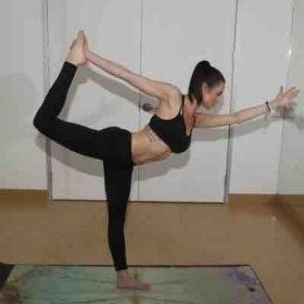 Dancer's pose is one of my favorite standing balancing postures!