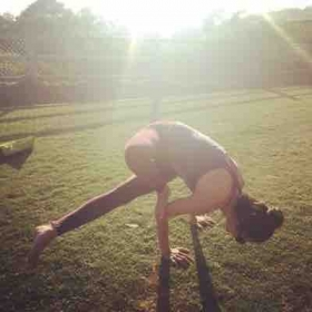 Working on that Dragonfly! I love arm balances! Reminds us to be patient and grateful for our body's capabilities! Practice practice!