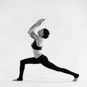 Crescent lunge with Eagle arms