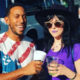 Backstage with Ludacris after supporting him at the Sweetwater 420 Festival in Atlanta 2016