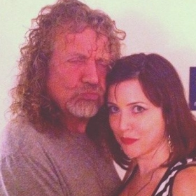 With Robert Plant of Led Zeppelin