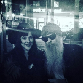 With Billy Gibbons of ZZ Top
