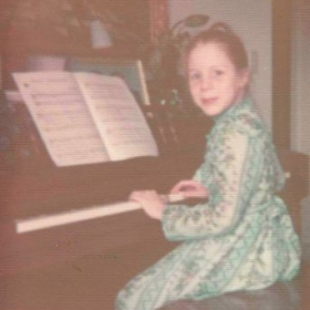 Me just before one of my first recitals!