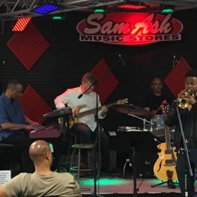 Sitting In with local musicians at the Sam Ash Sunday Jam Session in Atlanta