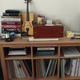 Part of my music library.