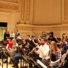 Warming up in Carnegie Hall with the Curtis Symphony Orchestra
