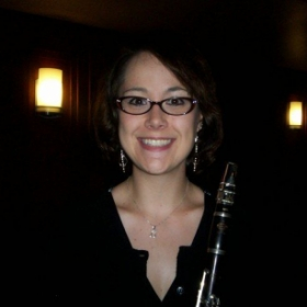 With my clarinet!