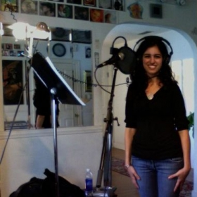 Jackie enjoys her recording sessions! It's so much fun!
