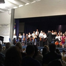 Me playing as a guest musician with the talented Pasadena Christian School Orchestra at their 2016 Winter Concert