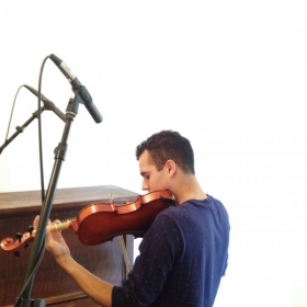 Recording with composer Zach Laliberte for a short film for The Lincoln Motor Company