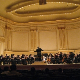 Playing at Carnegie Hall in 2007. The highlight of my high school orchestra career