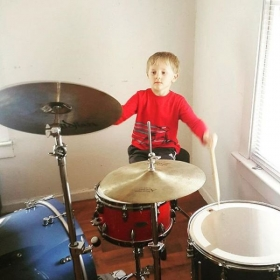 Gavin is only 5 years old, and already a rock star!!