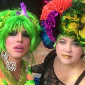 With Drag Personality Hedda Lettuce in Puerto Vallarta, Mexico.