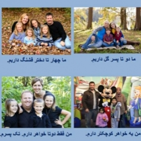 "Part of a lesson for my Farsi classes that teaches about ""family"" in which you learn how to talk about relations!"