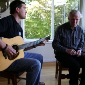 On this occasion, I had the honor of playing a tune for the legendary guitarist Doc Watson (and on his guitar, no less).