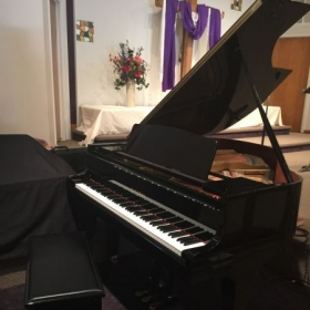 Kawai baby grand at Fireside Church studio