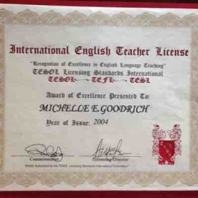 International teaching license