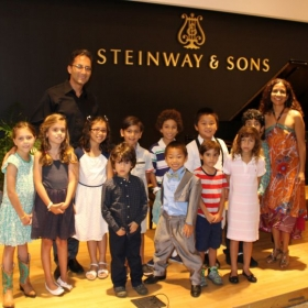 With some of my students at a Piano Students Presentation