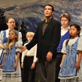 Troy as Captain Von Trapp in The Sound of Music, a VAS production