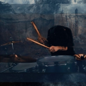 """Screen shot from the """"Castle in the Clouds"""" music video"""