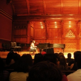 singing/piano gig at Harvard University