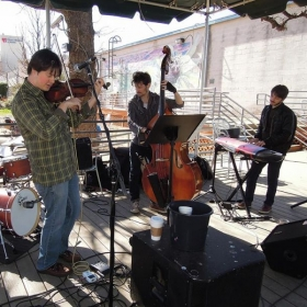 Central Market, Austin with James Anderson Elevation Quartet (Photo by Brad Emmons)