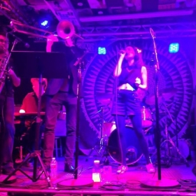 Performing with Flickadecoco at the Shrine in NYC